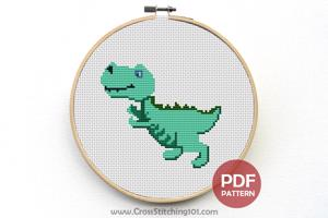 Cartoon Dinosaur CrossStitch Chart