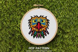 Royal Eagle Cross Stitch Pattern