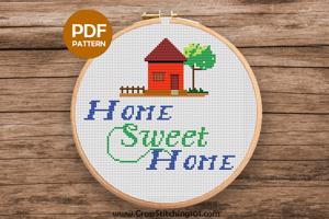 Home Sweet Home Cross Stitch Design