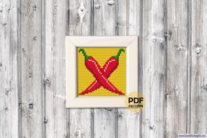 Red Chilly Cross Stitch Chart