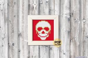 Skull Cross Stitch PDF