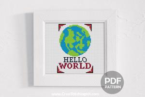 Hello World CrossStitch Design