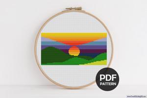 Sunset CrossStitch Pattern