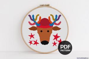 X-Mas Deer CrossStitch Chart
