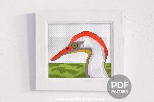 Cattle Egret CrossStitch Design