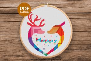 Happy Cross Stitch PDF