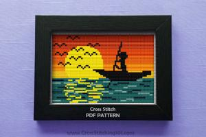 Fisher Man Cross Stitch Chart