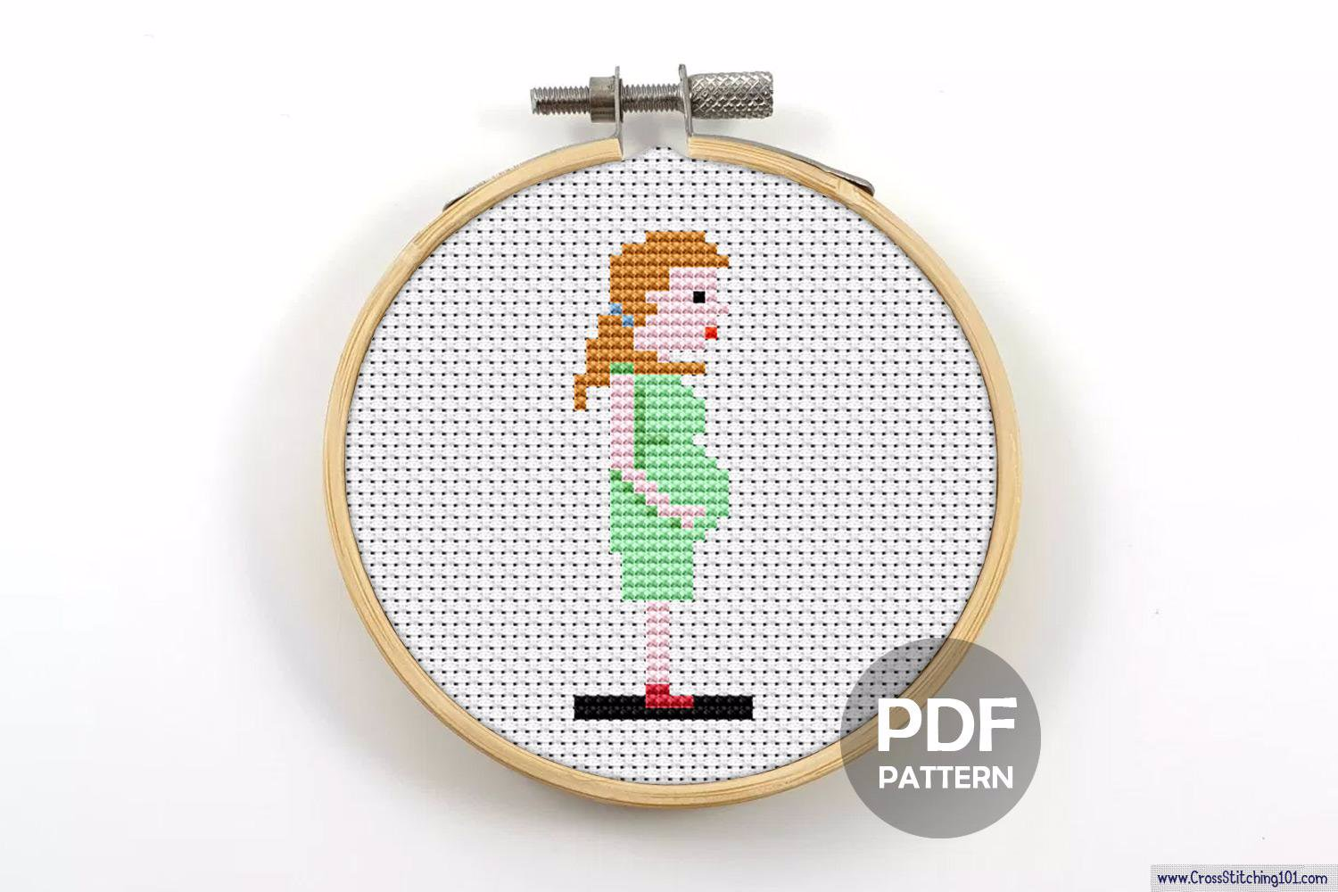 Pregnant Woman CrossStitch Pattern