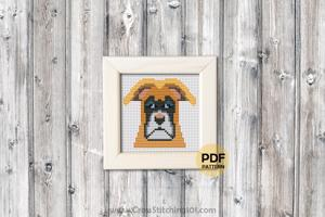 Boxer Dog Cross Stitch PDF