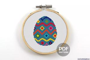 Easter Egg Cross Stitch Chart