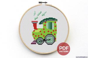 Train Engine CrossStitch Pattern