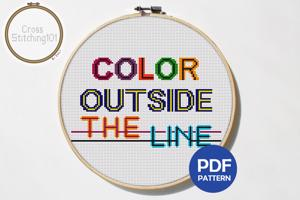 Color Outside The Line CrossStitch Pattern