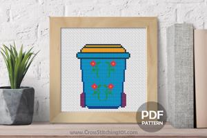 Recycle Bin Cross Stitch PDF