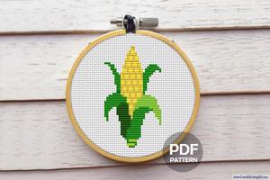 Sweet Corn Cross Stitch Pattern