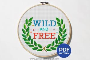 Wild And Free Cross Stitch Design