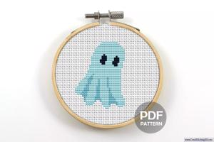 Ghost Cross Stitch Design