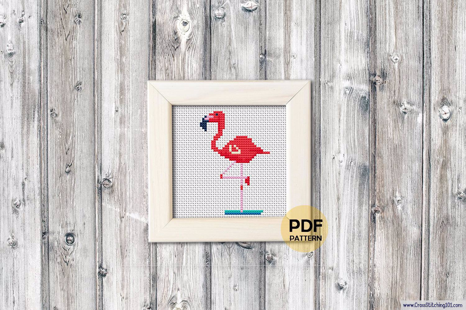 Flamingo Cross Stitch Pattern