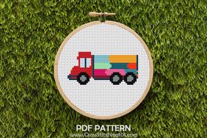 Colorful Truck CrossStitch Pattern