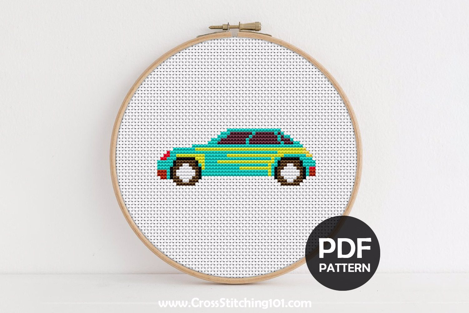 Sports Car Cross Stitch Pattern
