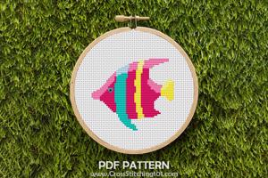 Tropical Fish CrossStitch Design
