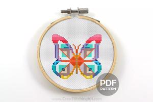 Abstract Butterfly Cross Stitch Pattern