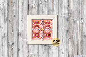 Coaster Pattern Cross Stitch Pattern