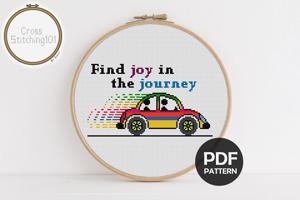 Find Joy In The Journey Cross Stitch Chart
