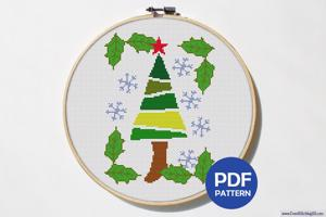 X-Mas Tree Cross Stitch Pattern