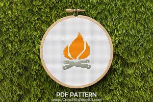 Camp Fire Cross Stitch Chart