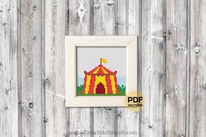 Circus Tent Cross Stitch PDF