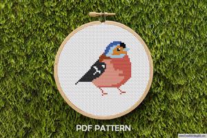 Sparrow Bird Cross Stitch PDF