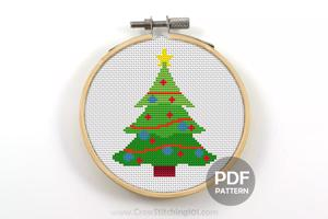 Christmas Tree Cross Stitch Design