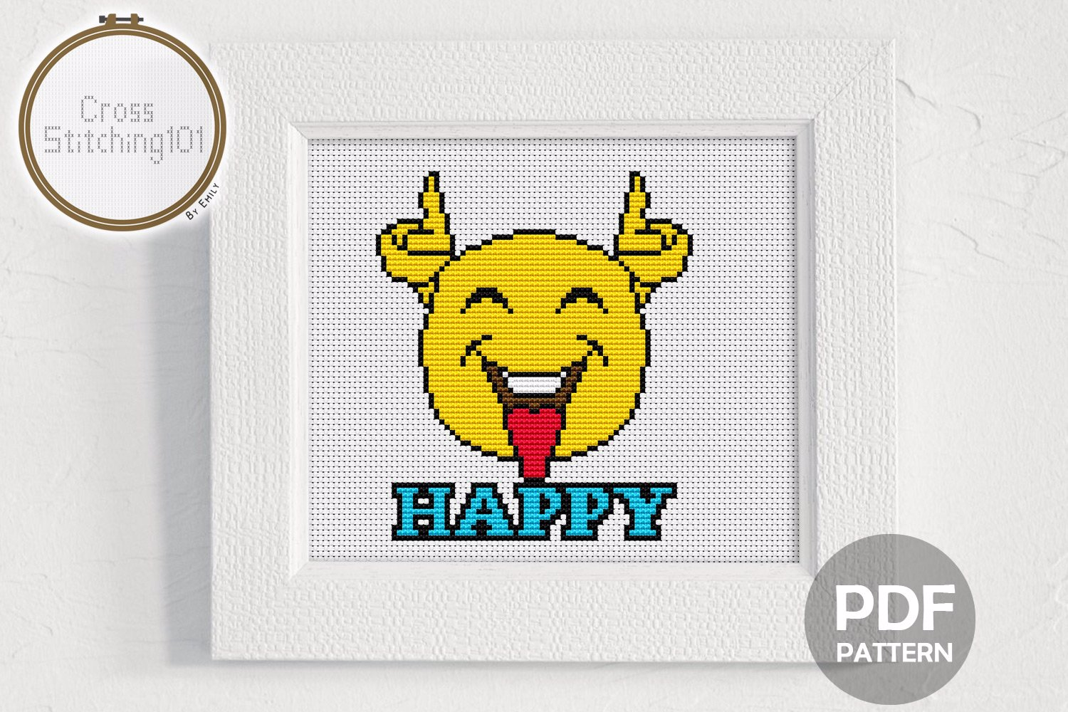 Happy CrossStitch Pattern