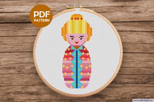 Russian Doll CrossStitch Design