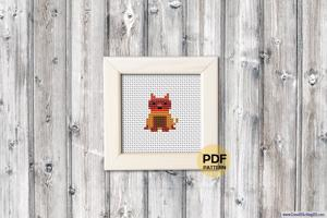 Boxer Dog Cross Stitch Design