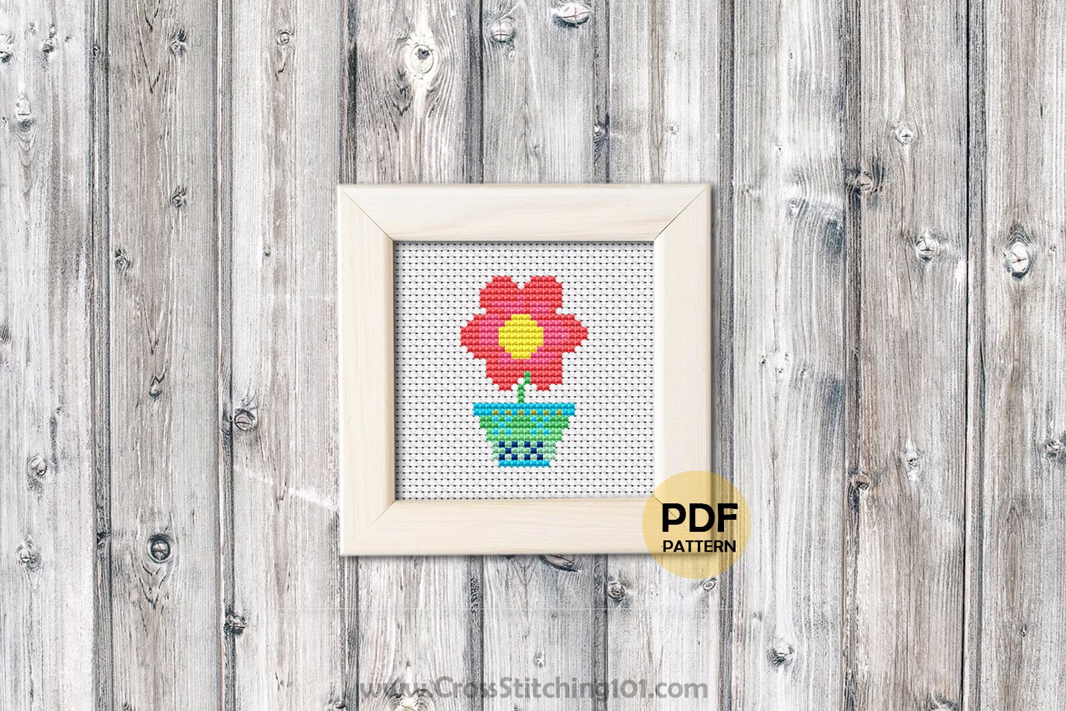 Flower Petal CrossStitch Design