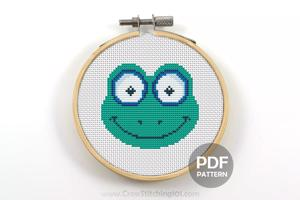 Frog Face CrossStitch Pattern