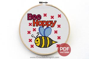 Bee Happy CrossStitch Pattern