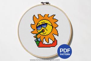 Beverage n Sun Cross Stitch Chart