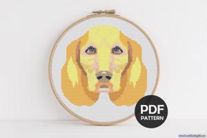 Labrador Dog Cross Stitch PDF