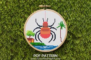 Spider Halloween Cross Stitch Chart