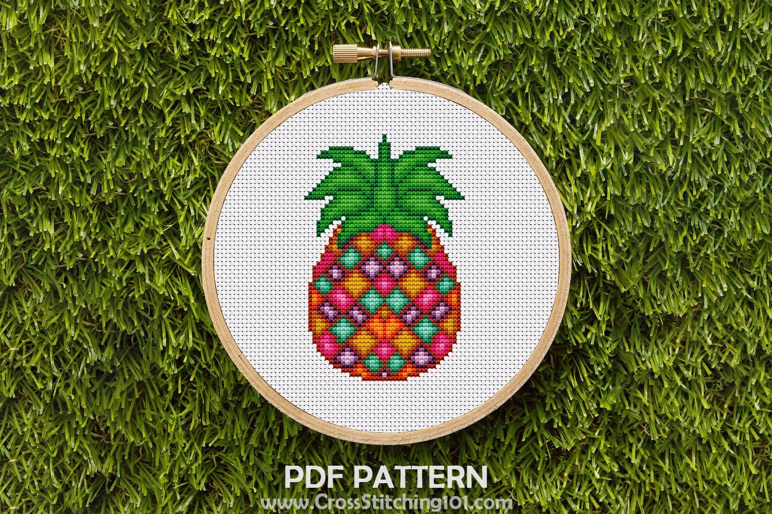 Pineapple Cross Stitch Chart