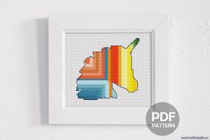 Unicorn Head Design Cross Stitch Design