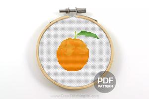 Orange Cross Stitch Pattern