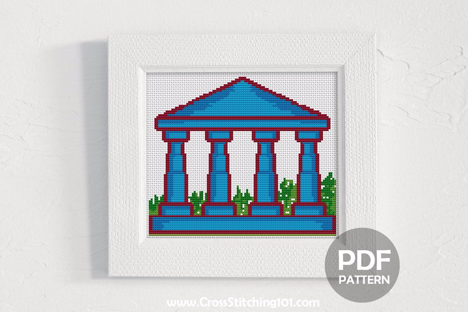 Building Pillars Cross Stitch PDF