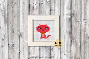 Cute Kitten CrossStitch Pattern