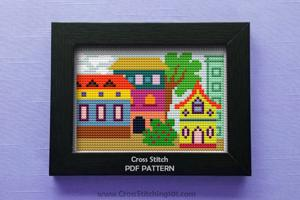 Colony of Color Cross Stitch Design