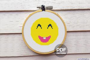 Emoji Smile Cross Stitch Chart