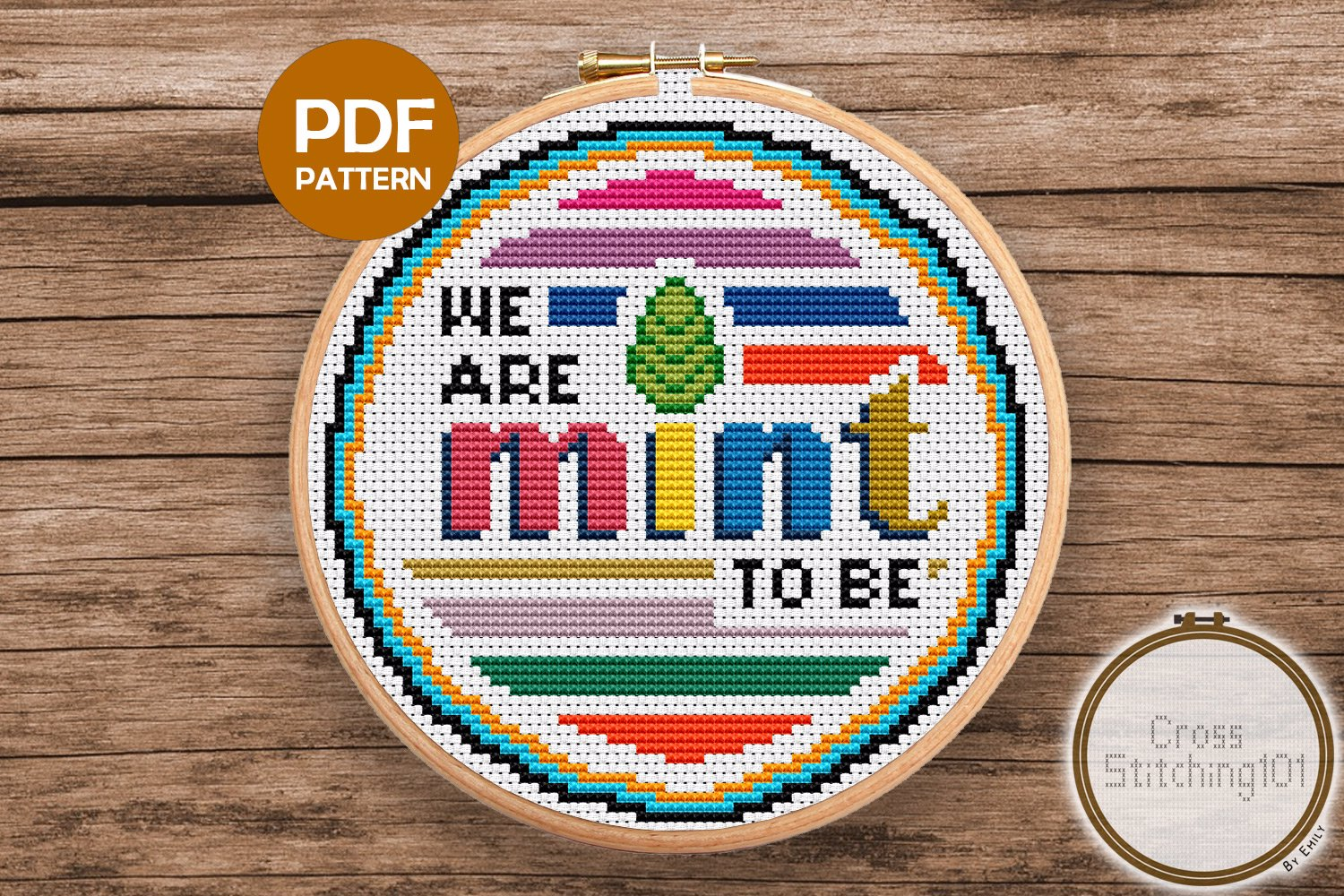 We Are Mint To Be Cross Stitch PDF