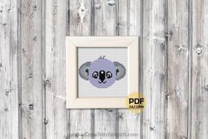 Cartoon Koala Face CrossStitch Pattern